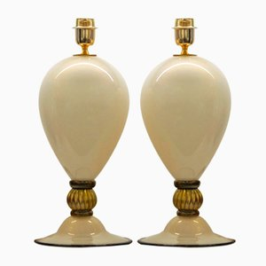 Murano Glass Table Lamps by Alberto Donà, 2000s, Set of 2