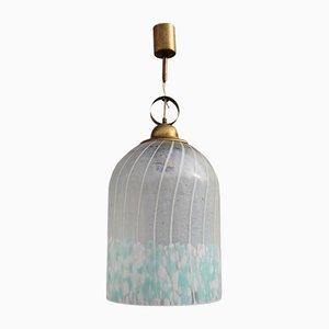Lampada da soffitto in ottone di Murrina Murano, anni '60