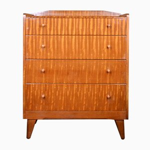 Mid-Century Tigerwood and Beech Wardrobe, 1960s