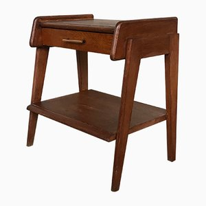 Vintage Nachttisch aus Eiche