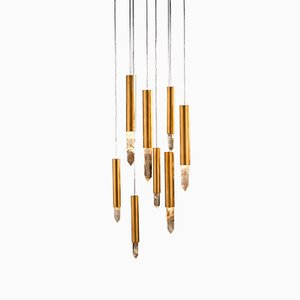 White Quartz Stalacta Pendant Lamp by Waldir Junior