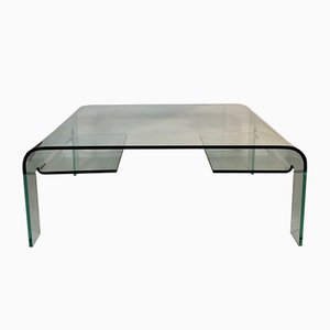 Vintage Glass Coffee Table from Marais International