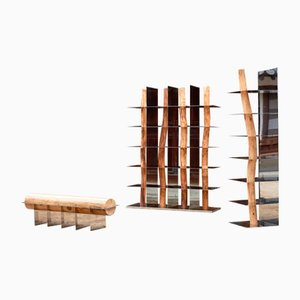 Korean Hanok Split Bench by Shinkyu Shon