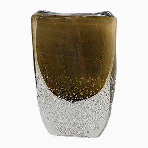 Vase aus Muranoglas in Schwarz & Gold von Romano Dona für Stefano Toso, 1990er