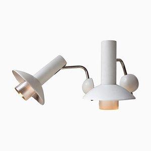 Lámparas de pared danesas de Louis Poulsen, años 70. Juego de 2