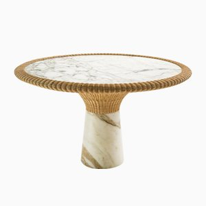 Mesa de comedor Amazonas de mármol de Giorgio Bonaguro