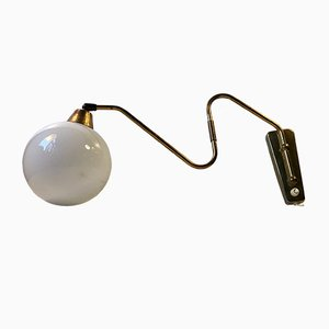 Danish Modern Brass Wall Light, 1960s