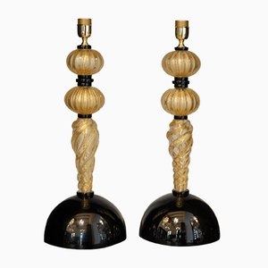 Tischlampen aus Muranoglas von Alberto Donà, 1980er, 2er Set