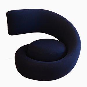 Blauer Spiral Nest Sessel von Marzio Cecchi für Studio Most, 1980er