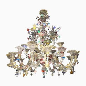 Large Eclectic Venetian Rezzonico 24-Arm Chandelier from Pauly, 1970s