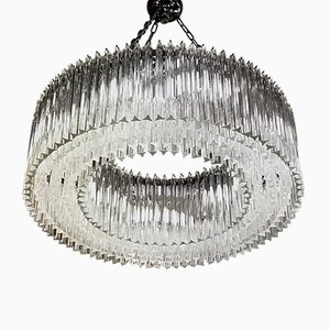 Clear Murano Glass Chandelier, 1980s