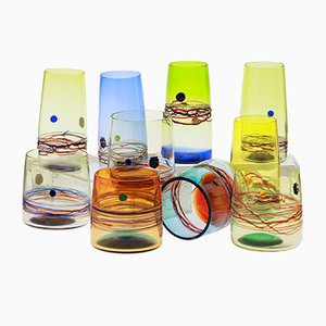 Murano Glass Tumblers by Amelio Cenedese for Cenedese, 1960s, Set of 10