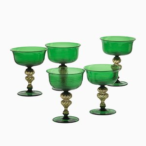 Champagnergläser aus Muranoglas, 1970er, 6er Set