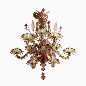Large Murano Glass Chandelier, 1970s