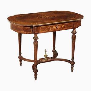 Petite Table Basse Vintage en Palissandre et Érable, Italie