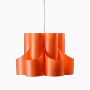 Skandinavische Deckenlampe aus Kunststoff von Lyfa, 1960er