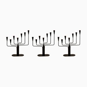 Metal Candle Holders by Gunnar Ander for Ystad-Metall, 1960s, Set of 3
