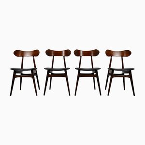 Mid-Century Dining Chairs by Louis van Teeffelen for WéBé, Set of 4