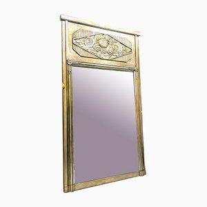 Specchio Art Deco in legno argentato, Francia