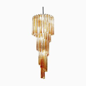 Lámpara de araña vintage de cristal de Murano de Venini