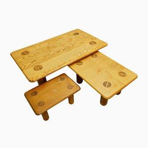 Tables Basses Vintage, Set de 3