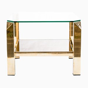 Golden Coffee Table from Belgo Chrom / Dewulf Selection, 1970s