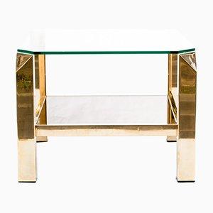 Mesa de centro dorada de Belgo Chrom / Dewulf Selection, años 70