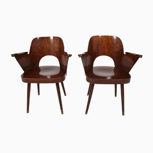 Bentwood Armchairs by Oswald Haerdtl, 1960s, Set of 2