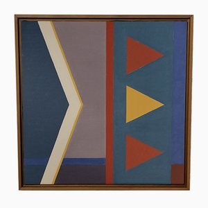 Abstract Composition Painting by Denyse Fréson, 1992