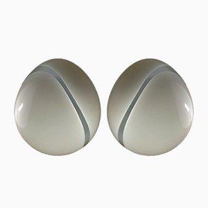 Lámparas de mesa vintage de cristal de Murano. Juego de 2