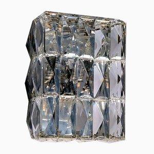 Vintage Crystal Glass Ceiling Lamp from Kalmar