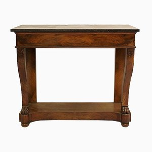 19th Century Mahogany and Marble Console Table