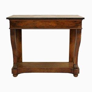 Konsolentisch aus Mahagoni mit Deckplatte aus Marmor, 19. Jh.