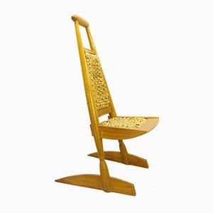 Vintage Stuhl aus geflochtenem Bananenblatt