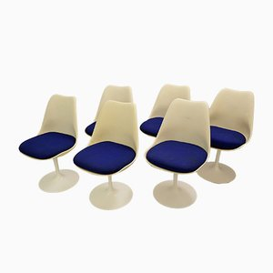 Sedie da pranzo Tulip di Eero Saarinen per Knoll Inc. / Knoll International, anni '60, set di 6