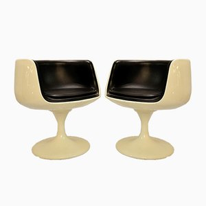 Vintage Sessel in Schwarz & Weiß, 2er Set
