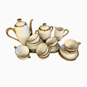 Servicio de café de porcelana de Georges Boyer, años 40