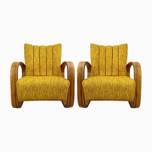 Lounge Chairs by Miroslav Navratil, 1930s, Set of 2