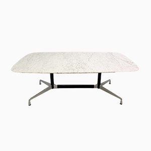 Mesa de comedor vintage con superficie de mármol de Charles & Ray Eames para Vitra