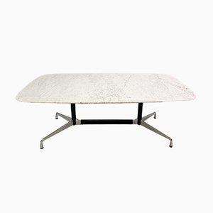 Vintage Esstisch mit Marmorplatte von Charles & Ray Eames für Vitra