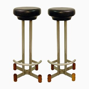 Mid-Century Italian Bar Stools, Set of 2