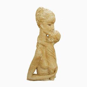 Escultura belga de cerámica de Koos Van Der Kaaij, años 60