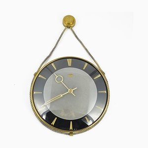 Mid-Century German Mechanical Wall Clock from UPG Halle