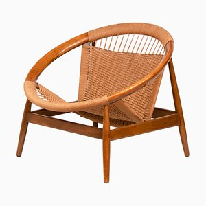 Mid-Century Model Ringstol Lounge Chair by Illum Wikkelsø for Niels Eilersen, 1950s