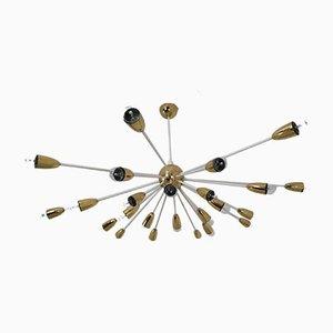 Mid-Century Brass Sputnik Chandelier, 1970s