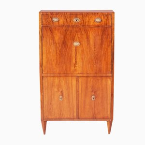 19th Century Biedermeier Czech Walnut Secretaire, 1830s