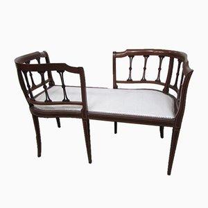 Antique Art Nouveau Mahogany Chaise Lounge