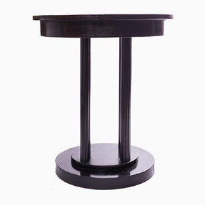 Table d'Appoint Vintage Art Déco Noire