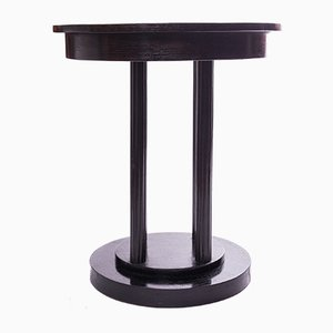 Vintage Art Deco Black Side Table