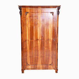 19th Century Biedermeier Czech Walnut Wardrobe, 1840s